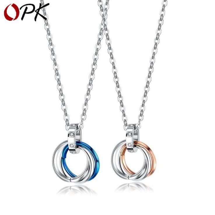 Three Ring Necklace | Boyfriend and Girlfriend Matching ...